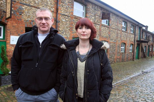 Bucks Free Press: Danny Whiting, from the production team, and Mel Bastin