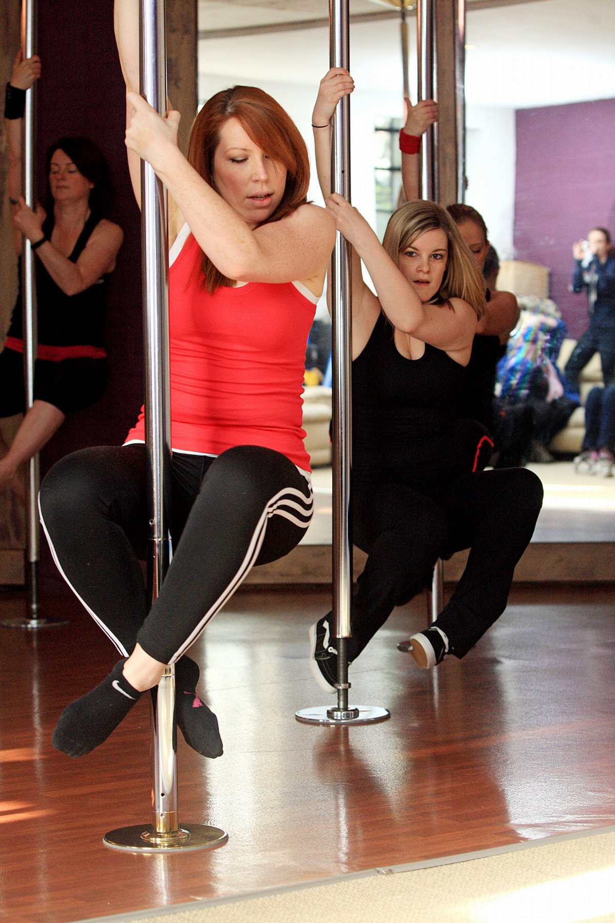 Pole dancers take part in world record attempt