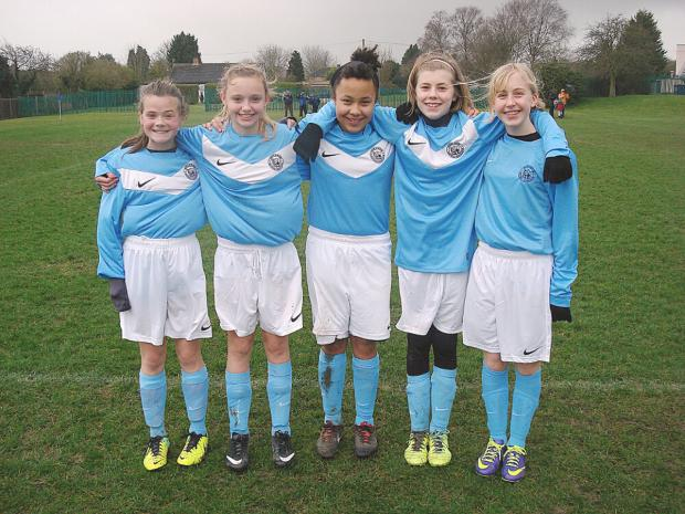 Marlow's Rosie Shepherd, Morgan Simpson-Goode, Jasmine Fifield-Moore, Mollie Dench and Jenna Glover