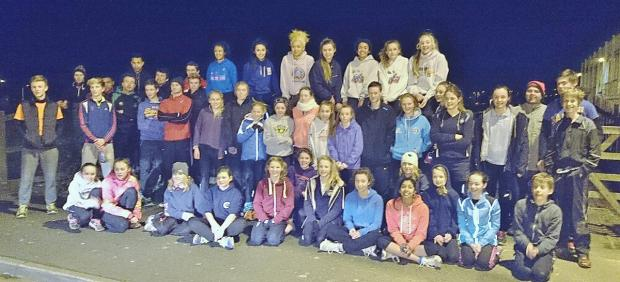 ATHLETES from WSEH, Speed Demons and BNU before their last ever training session at Handy Cross. The track will be demolished and replaced by a new track in Marlow this summer.