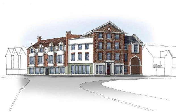 Bucks Free Press: The proposed building for the corner or Spittal Street and Dean Street (looking from the east)