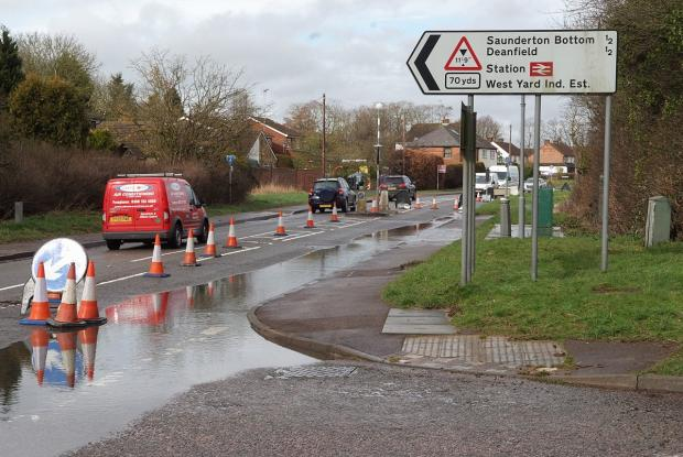 RAF said they were given permission to pump water onto road