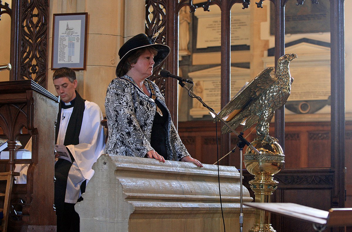 Marlow Mayor Suzanne Brown at Sunday's civic service