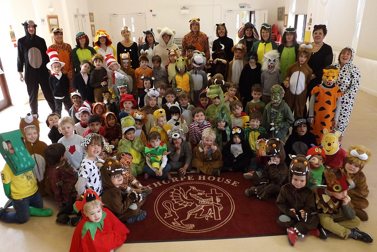 Pupils and teachers dress-up as animal character
