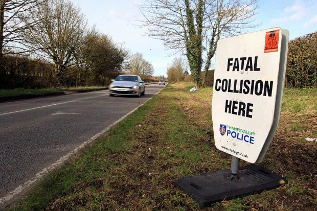 The scene of last week's collision on the A413