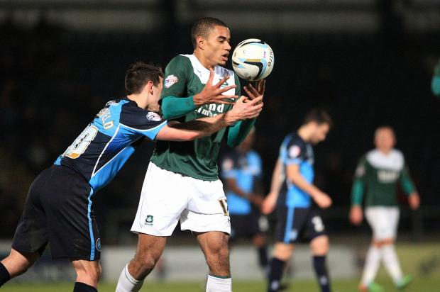 Wanderers get to grips with Plymouth Argyle