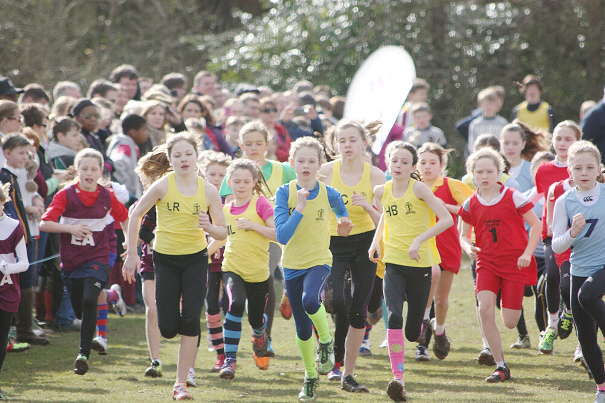 St Teresa's School cross-country girls set a fast pace