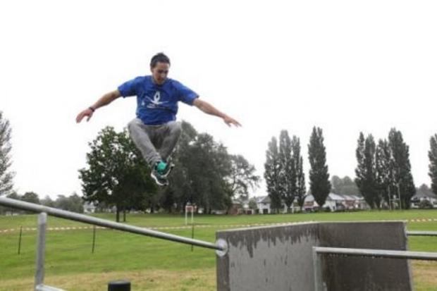 Bucks Free Press: Parkour equipment in use