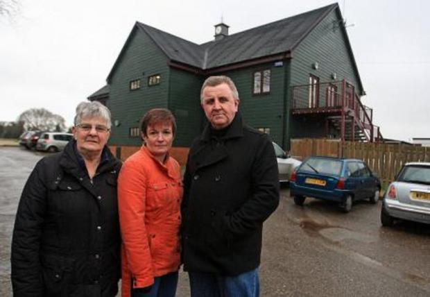 Residents deliver notice to everyone in local area to help 'save' pavilion