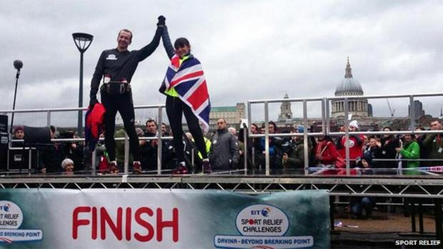 Greg Whyte with Davina McCall last month (pic. courtesy of Sport Relief)