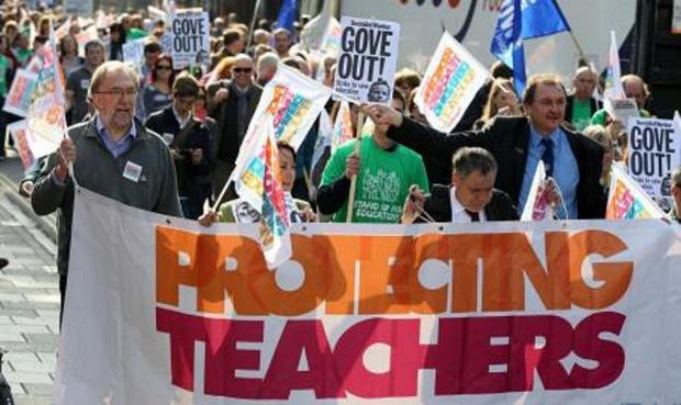 Previous teaching strike