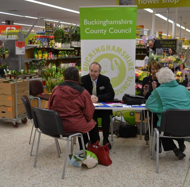 Shoppers grill council leader at supermarket drop-in