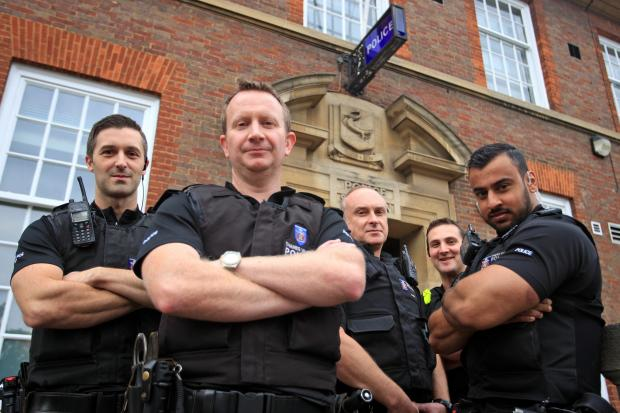 Inspector Messenger with his team of burglary-busting crime-fighters