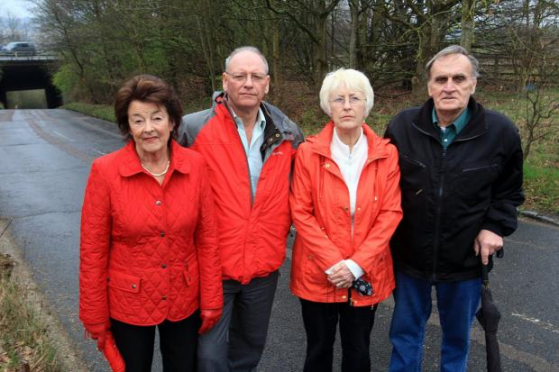 (From left) Wendy Mander, Colin Clarkson, Carol Remsbury and Chris Remsbury
