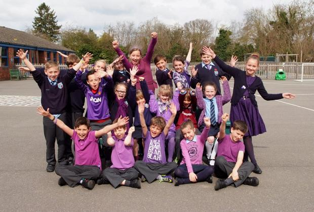 Chalfont St Peter youngsters celebrate Purple Day