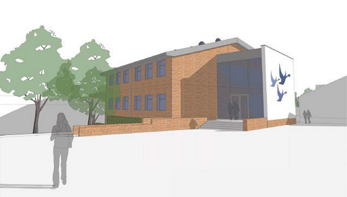 An artist's impression of the new Misbourne School building