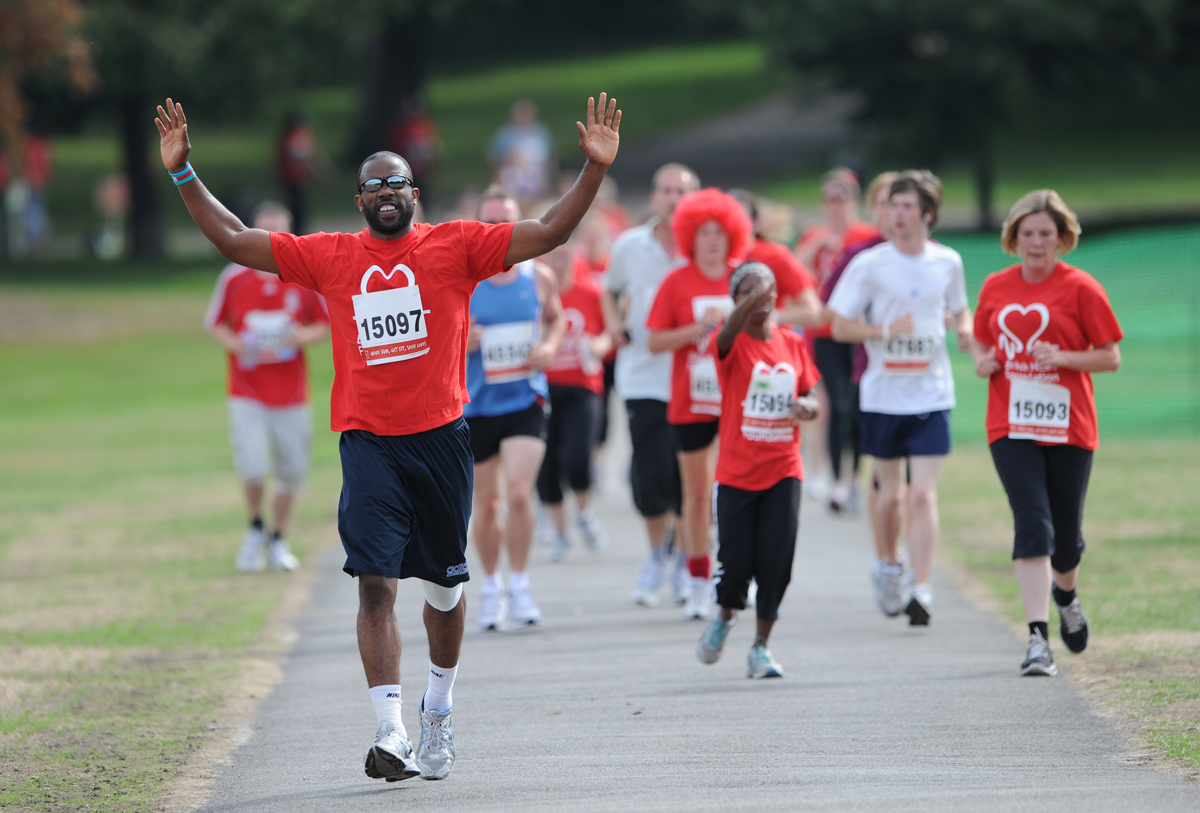 Run all over heart disease at the British Heart Foundation's London 10k Runs