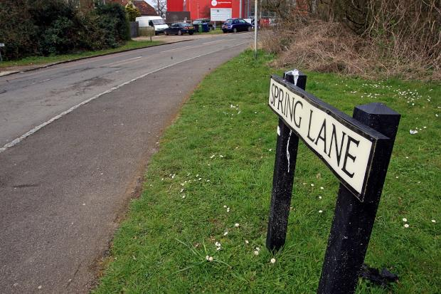 Spring Lane, believed to be location for new slip road