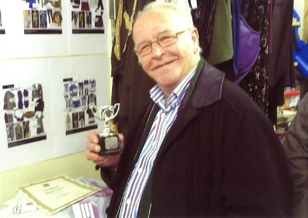 Bucks Free Press: Les with the trophy awarded to him by colleagues