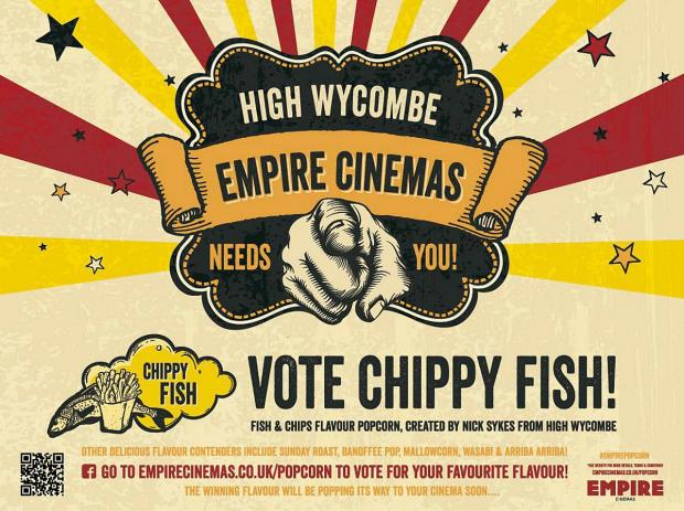 Cinema chain shortlists fish and chips flavoured popcorn