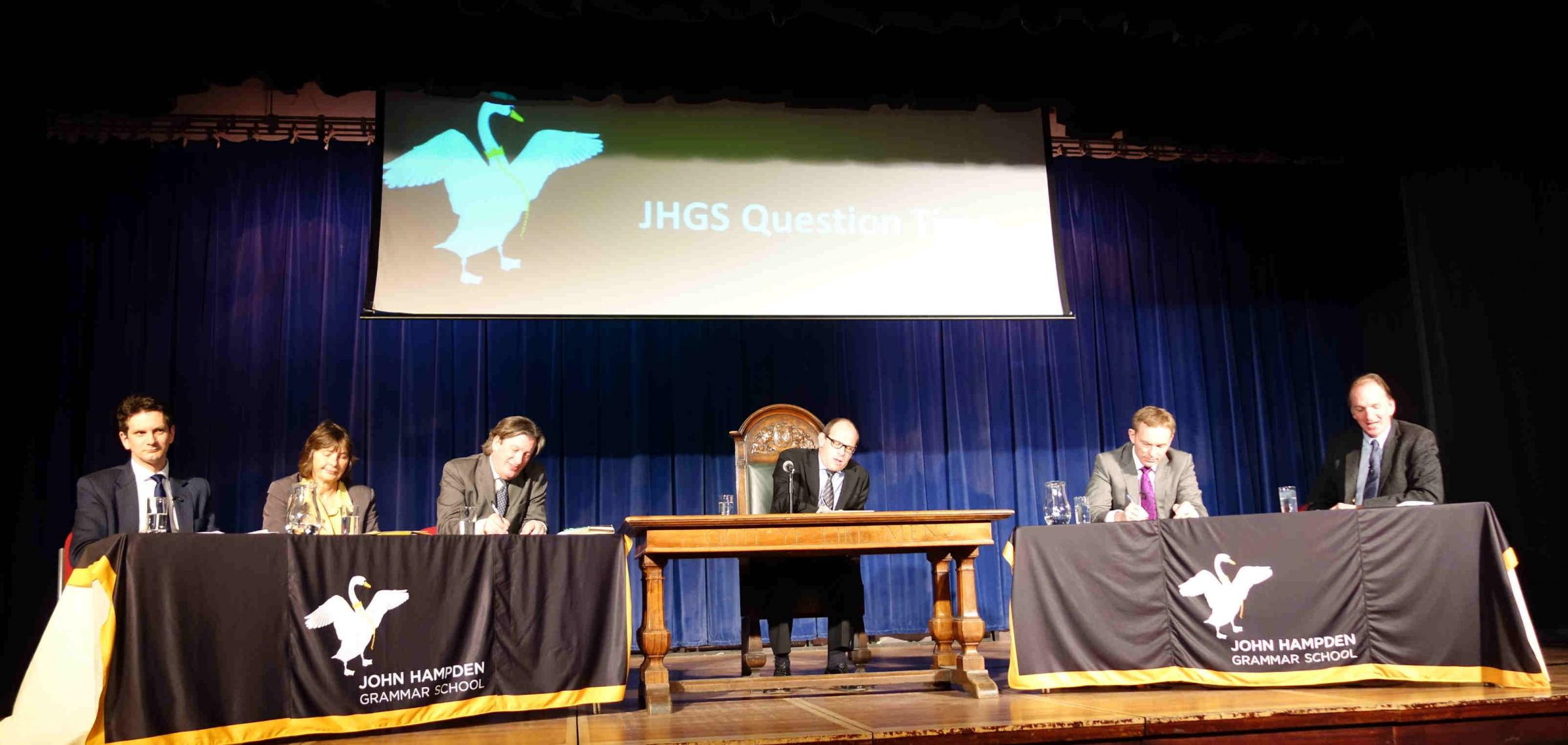 Politicians grilled at school's 'Question Time' event