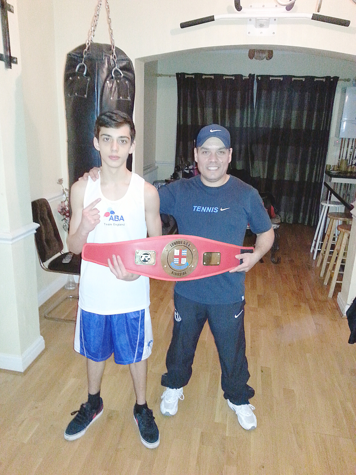 Jamal Khan and coach Adrian Moco