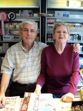 Veteran newsagents recognised for fundraising efforts