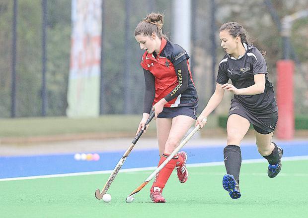 Bucks Free Press: BNU hockey captain Louise Neale in action.