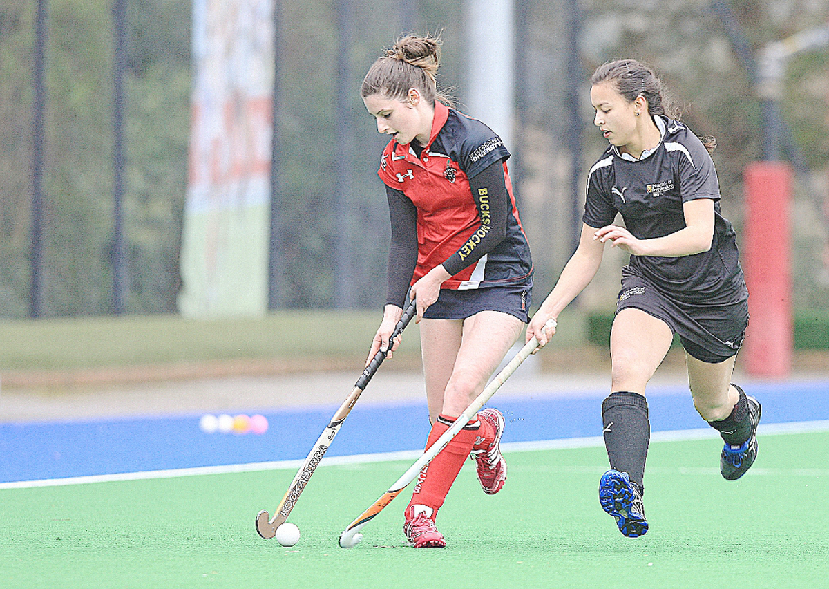 BNU hockey captain Louise Neale in action.