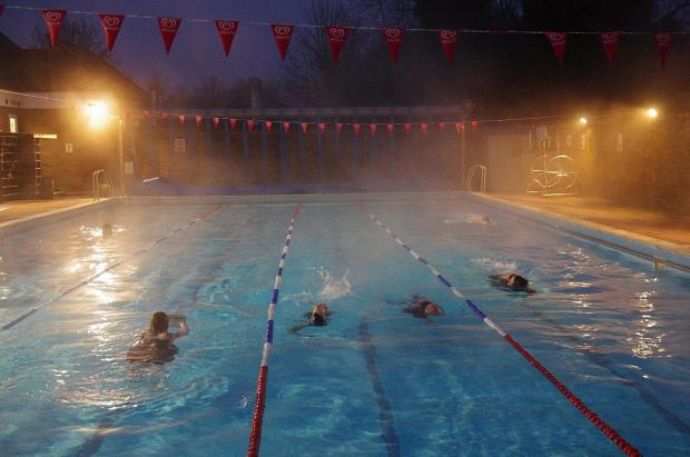 Chesham Moor's pool during a winter swim