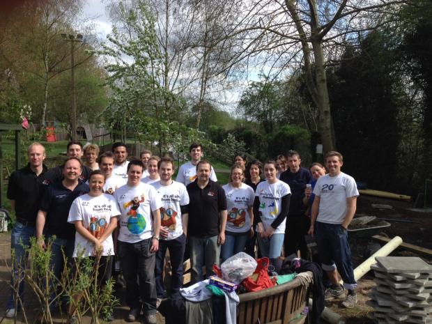 Wycombe firm helps charity rebuild sensory garden