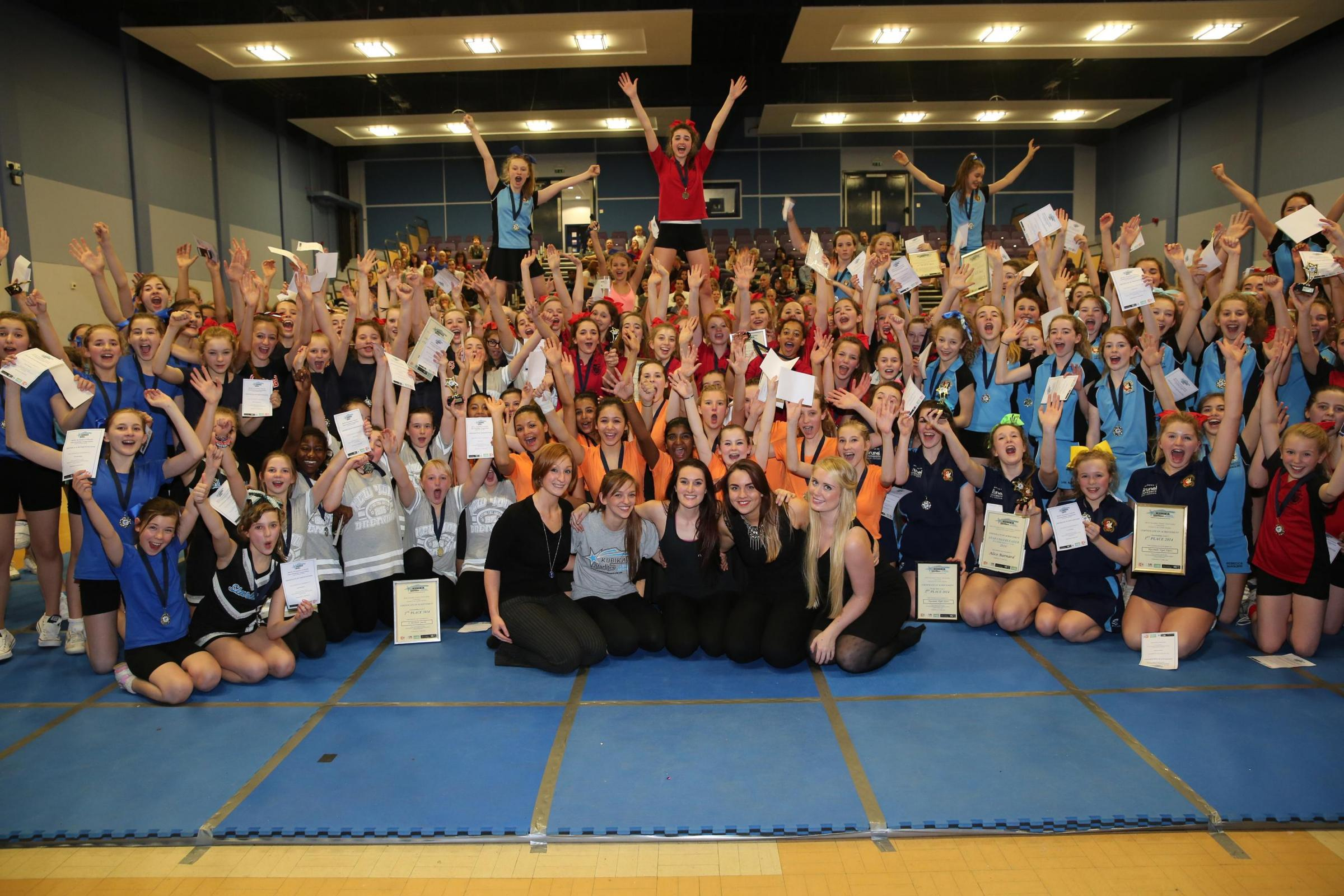 Schools take part in cheerleading contest