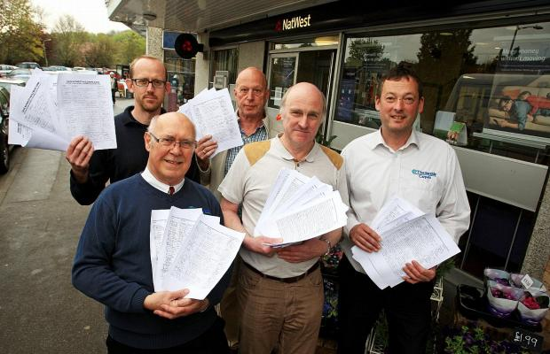 Villagers petition to save Hazlemere bank