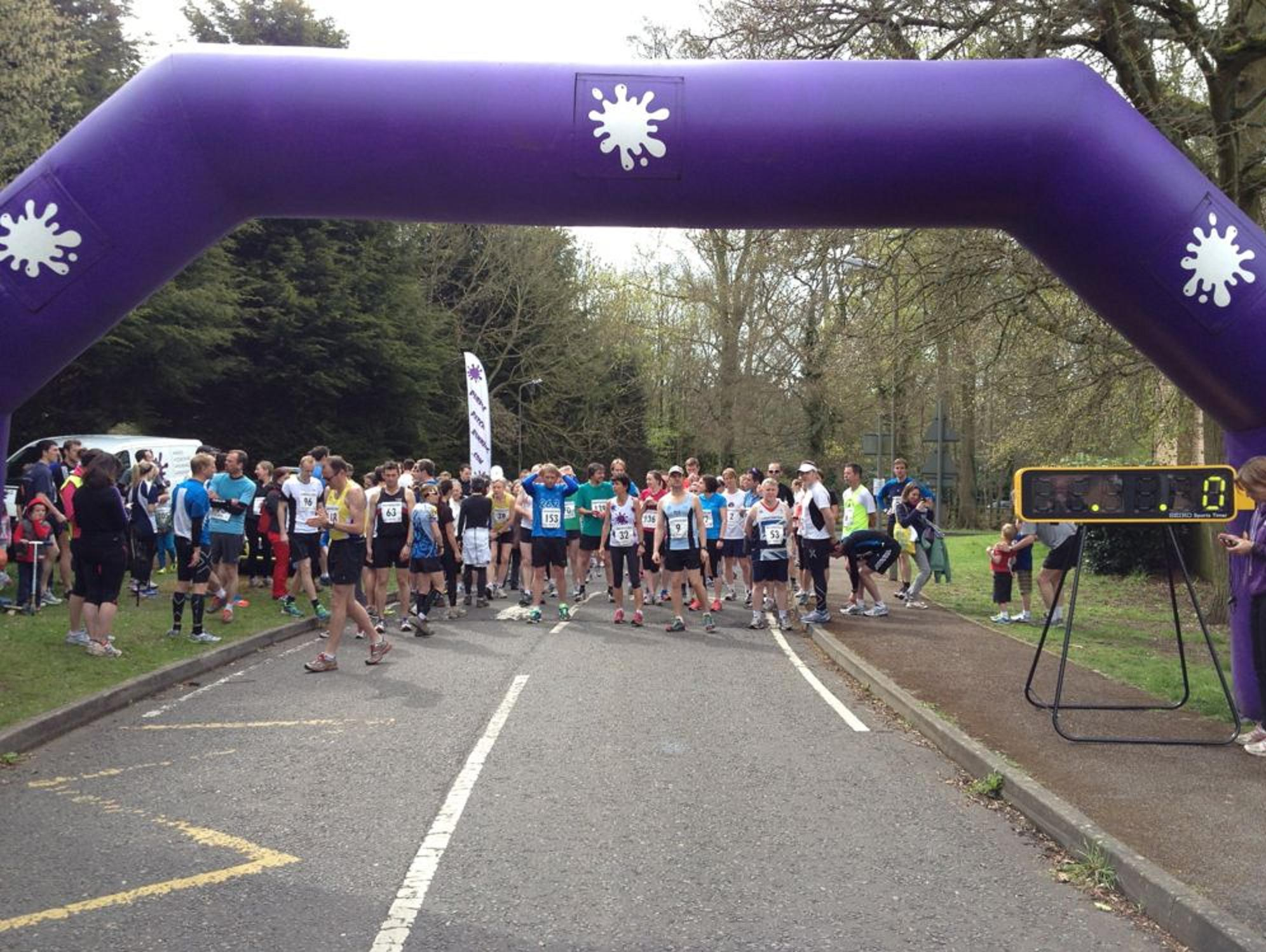 Runners at the start of last year's rac