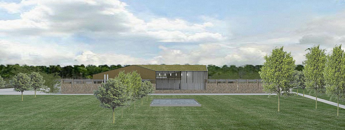An artists' impression of how the new crematorium buildings could look
