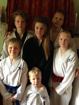 Martial arts-mad family makes it four young black belts