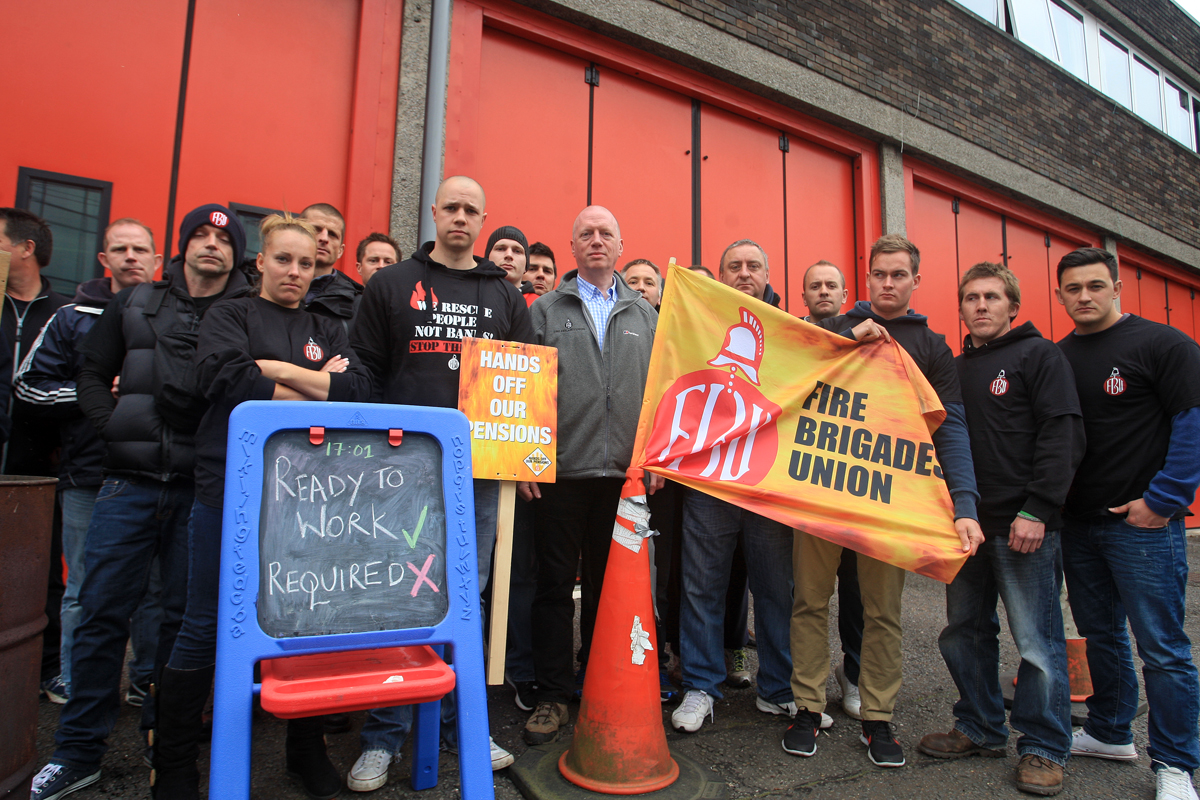 Firefighters start third day of strike action