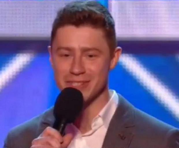Andrew Bourn on Britain's Got Talent. Photo courtesy ITV