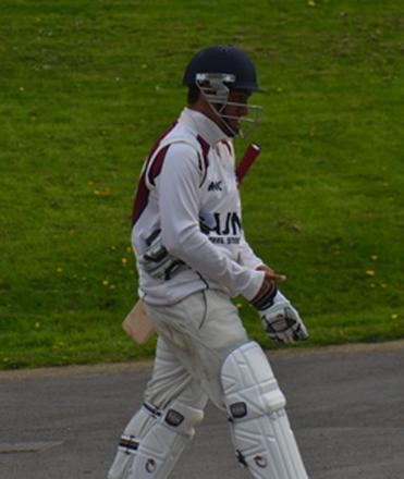 Saif Zaib playing for Northants against Durham MCCU