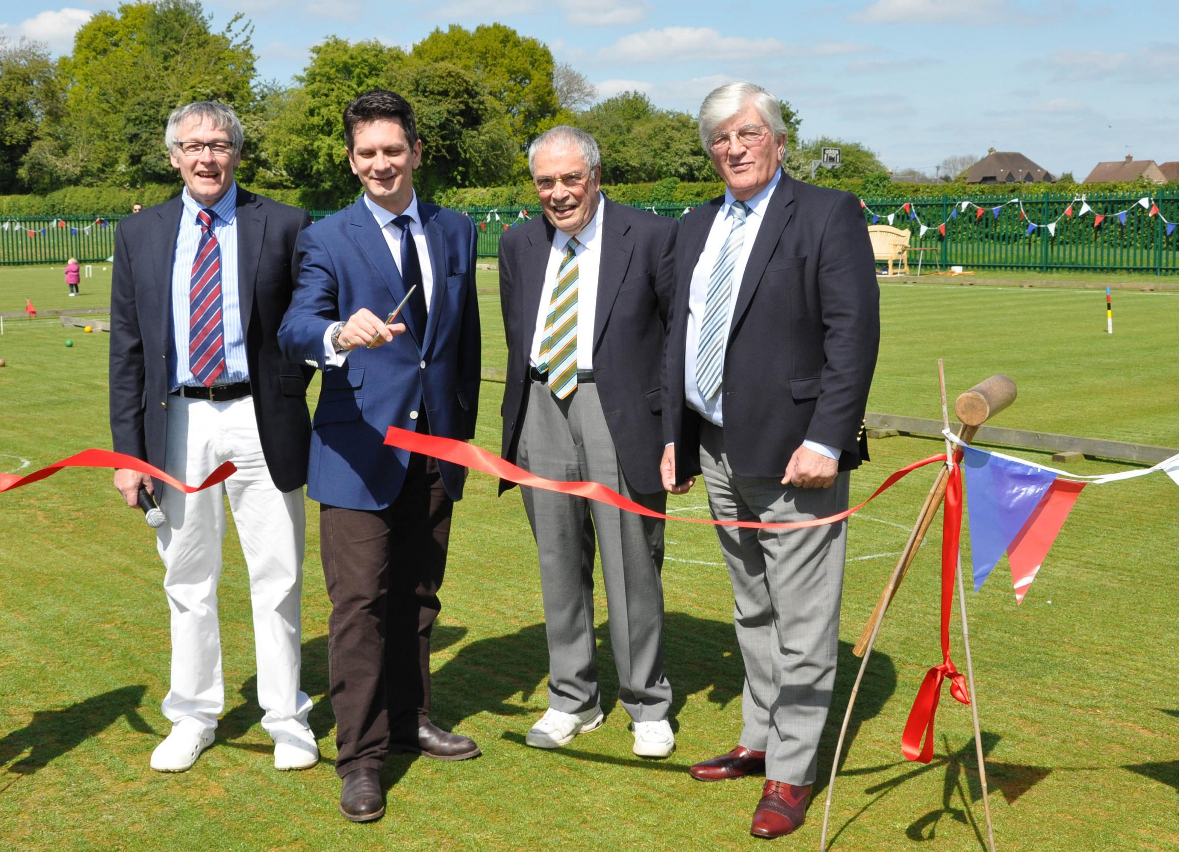 Hazlemere croquet lawns opened by Wycombe MP