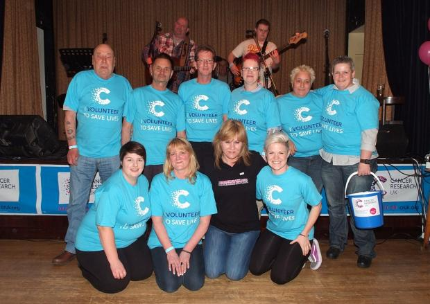 Cancer Research fundraisers with event organiser Sarah Conneely (in black)