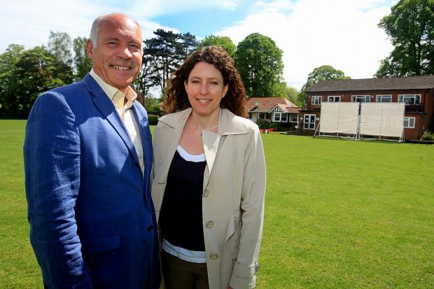 Bucks Free Press: Chairman Paul Sambrook alongside ball organiser Amber McDermott