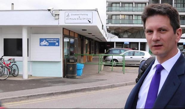 Steve Baker MP after finally finding the drop off point at Wexham Park Hospital