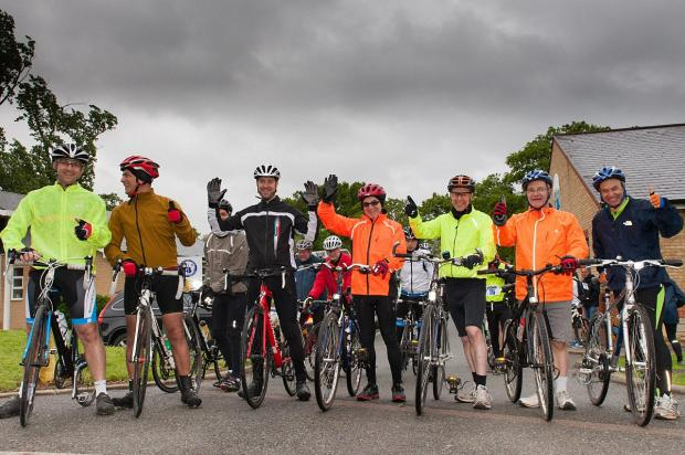 Cyclists saddle up for charity challenge