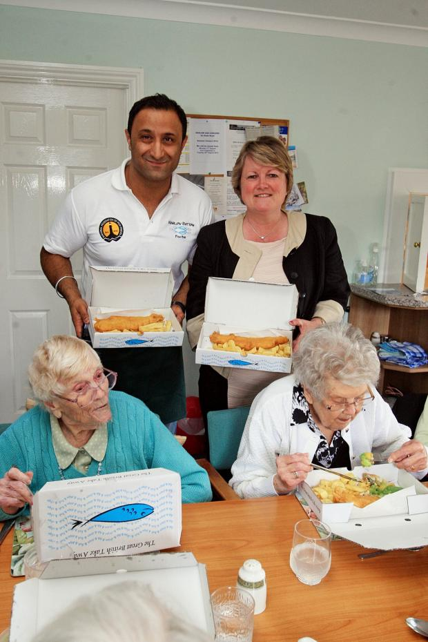 Bucks Free Press: Kind hearted chippy lays on banquet for pensioners