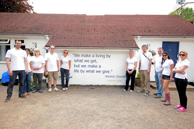 Firm lends hand at flood-hit centre