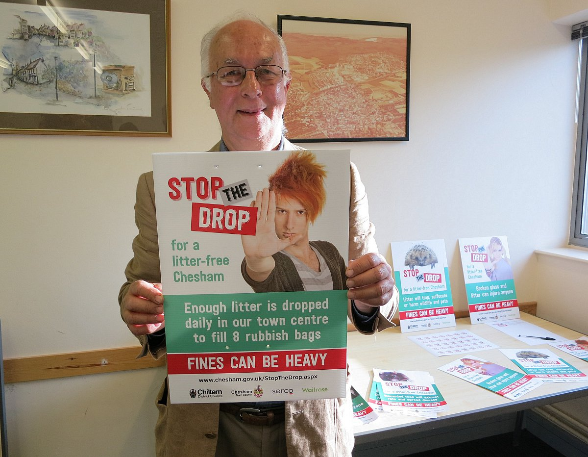Cllr Chris Spruytenburg with one of the campaign posters