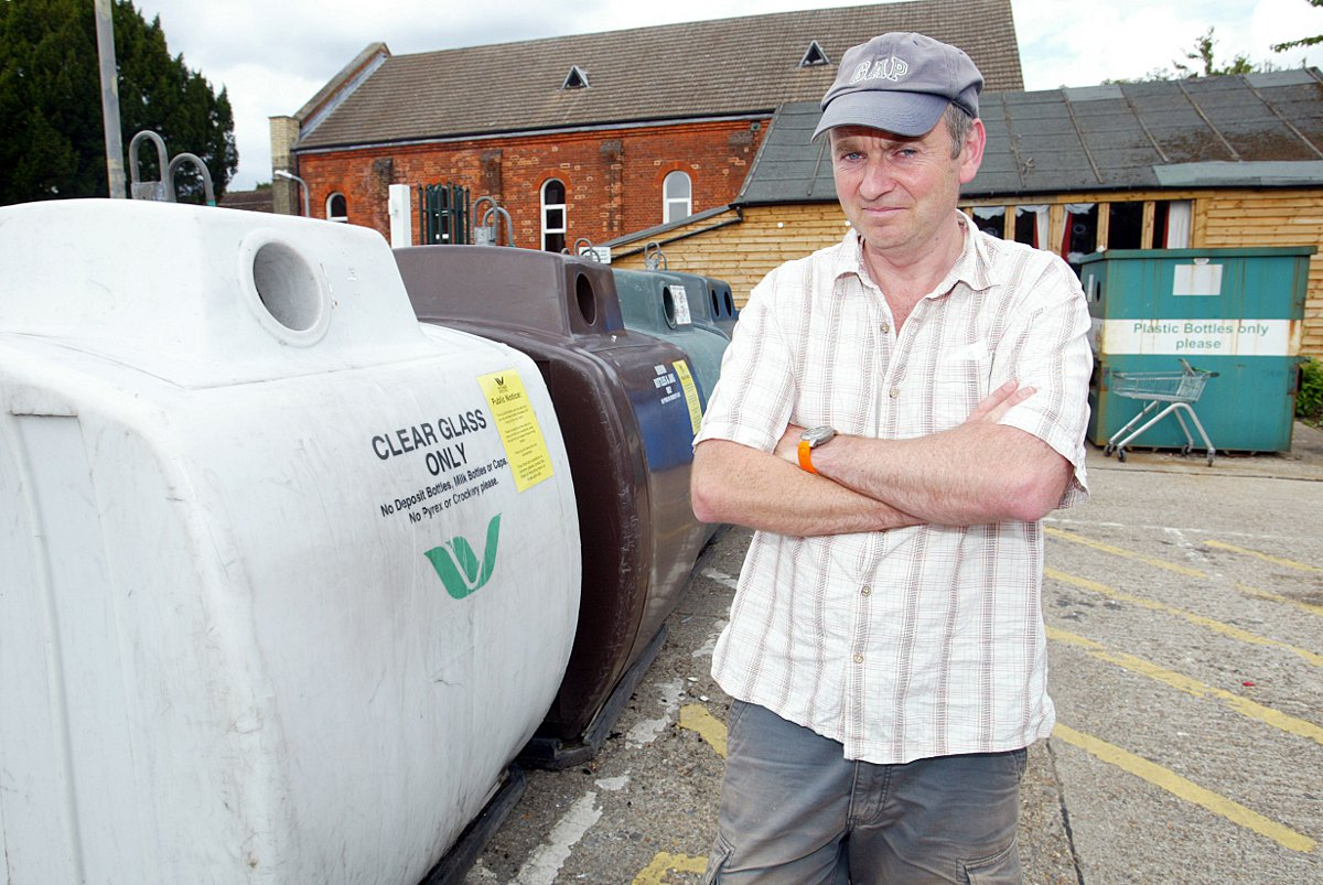 Scrap unused recycling centres says noise-blighted resident