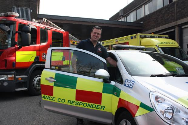 Watch Manager Jon Franklin from High Wycombe Fire Station is one of Buckinghamshire Fire & Rescue Service's ambulance co-responders