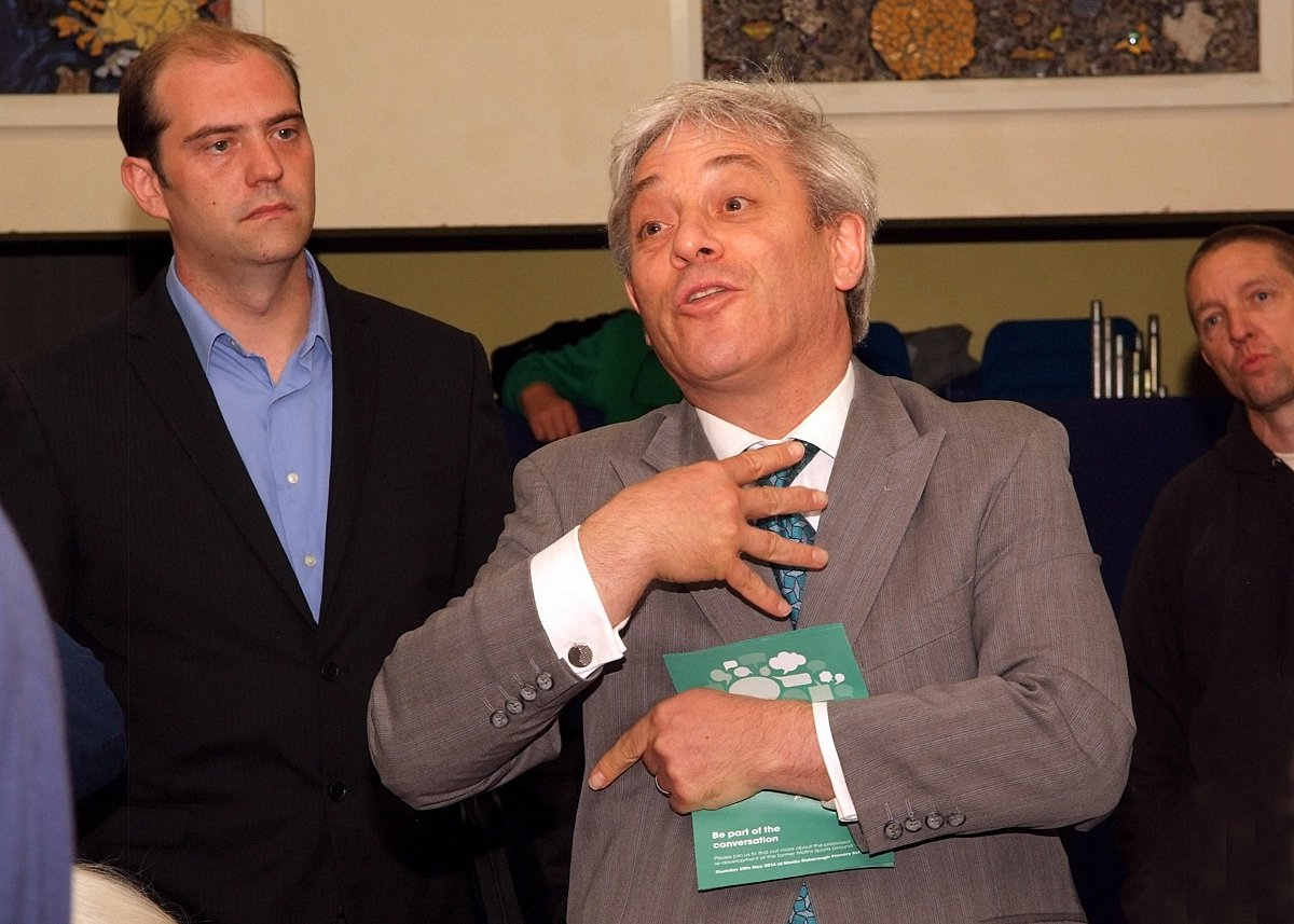 John Bercow at the meeting